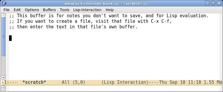 Emacs 23 just after I